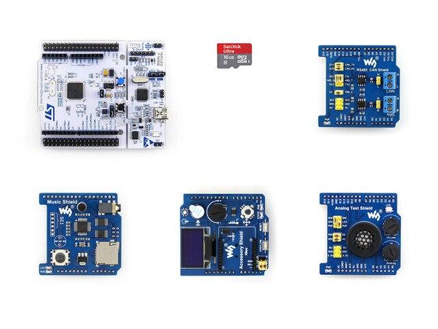 NUCLEO-F103RB Пакет B Поставляется с Общей, Используемый Периферийных Щитов, OLED, RTC, AD/DA, аудио Кодек, RS485, МОЖЕТ Карта Micro Sd 16 ГБ