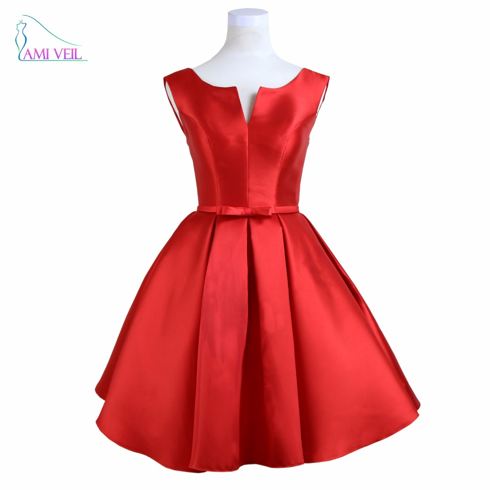 Red Mini Cocktail Dresses Party Short Prom Dress 2017 Girl -5024