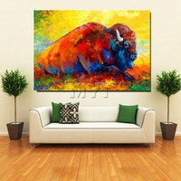 Wholesale Retail Drop Shipping Western Cow Oil Paintings On Good Canvas With Framed Decoration Fashion Wall