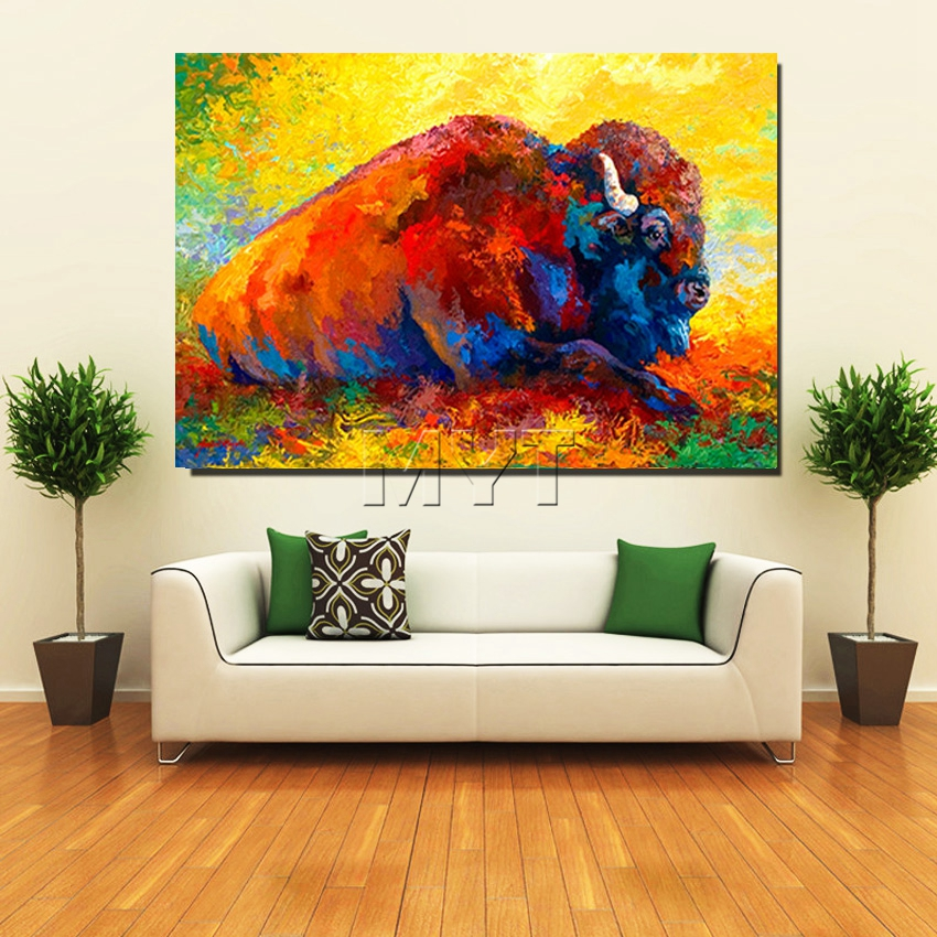 Whole Sale Home Decor: Wholesale Retail Drop Shipping Western Cow Oil Paintings