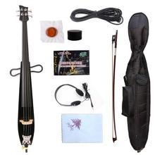 Yinfente Электрический Виолончель 4/4 из твердой древесины мощный звук бесплатно виолончель лук сумка и виолончель запчасти