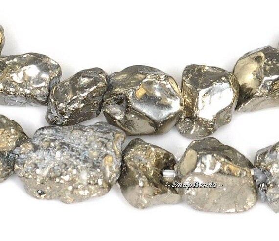 2strands 4 6mm Iron Pyrite Gemstone Rough Rugged Nugget