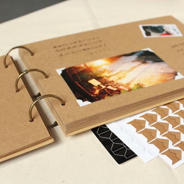 A4 56P Kraft DIY kézzel készített bébi album kreatív pár Polaroid fénykép Családalbum keret fotóalbumok beillesztése újszülötteknek