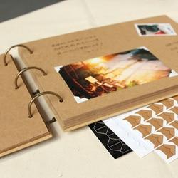 A4 56P Kraft DIY Handmade Baby Album Creative Couple Polaroid Photograph Pasting Family Album Frame Photo Albums for Newborn