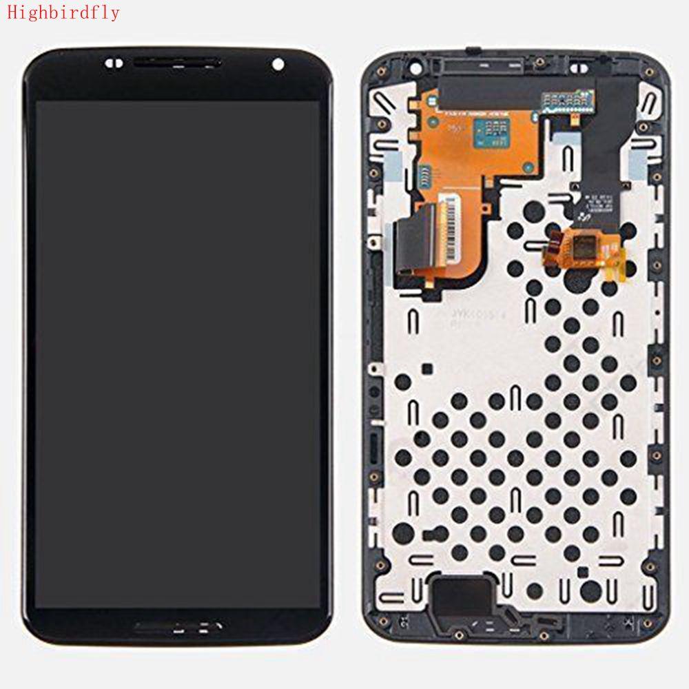 Pour Motorola Nexus 6 XT1100 XT1103 écran Lcd + cadre de numériseur en verre tactile