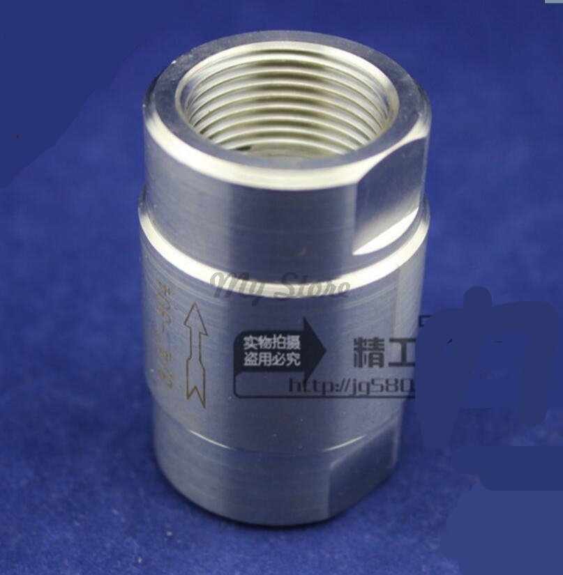 304 stainless steel high pressure check valves gas water one-way valve DN6 DN8 DN10304 stainless steel high pressure check valves gas water one-way valve DN6 DN8 DN10