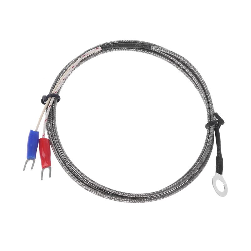 6mm hole washer k type thermocouple temperature sensor probe 1m cable for industrial temperature