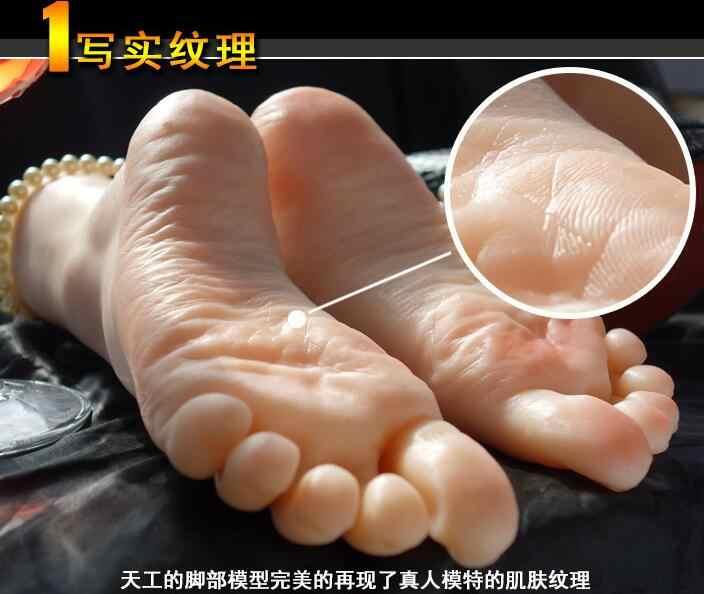 21*12*7 センチメートル実際のシミュレーション足マネキン靴撮影ディスプレイ小道具ペディキュア絵の指導ストッキング a334