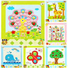 Painting-Toys Stickers Crafts Children Handmade-Kits Early-Educational-Toy DIY Kids Button
