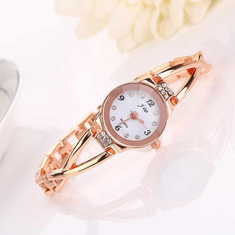 Модные повседневные женские часы-браслет из нержавеющей стали, Кварцевые женские наручные часы из сплава, Relogio Feminino