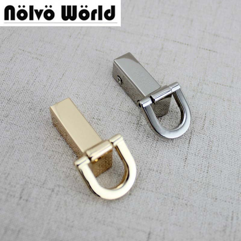 20pcs 31*33mm DIY Purse 2 Side Clips Die Casting Nickel Color Hardware Bags Clasp Accessory,clase For Making Bags Metal Clip