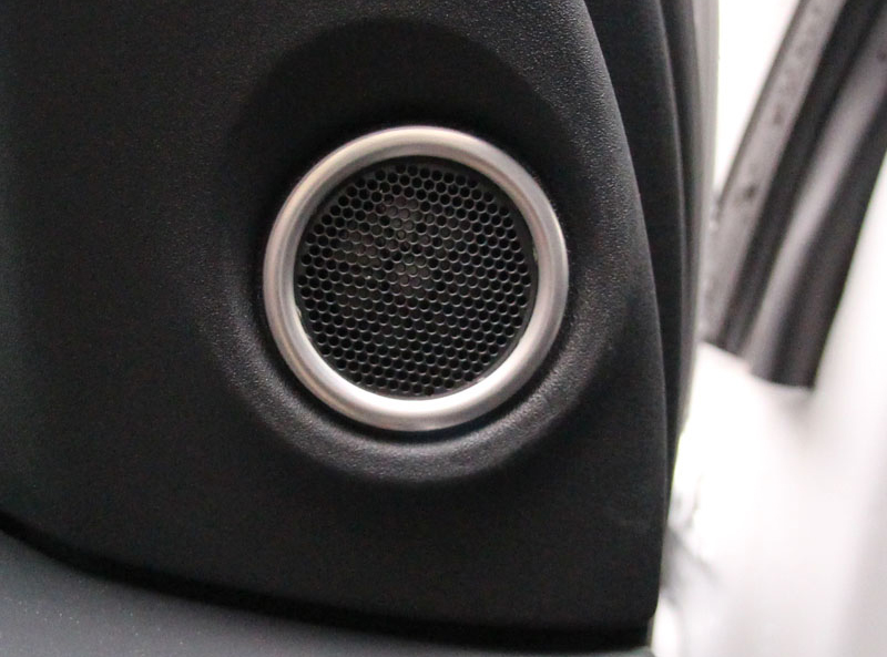 AOSRRUN ABS Chrome Trim Hoge luidsprekers stereo Cover Ring 2 STKS - Auto-interieur accessoires - Foto 3