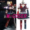Batman Arkham Harley Quinn Outfit Party Dress Dark Knight Dress Halloween Anime Cosplay Costumes For Adult
