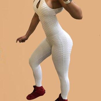 Criss Cross Jumpsuit Bodysuit Open Back Kombinezon Damski 2019 Black Playsuit Body Fitness Jumpsuit Solid Push Up Bodysuit Women criss cross faux suede open shoulder dress