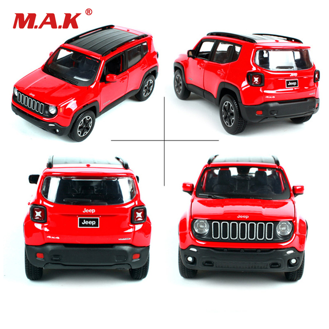 Collection 1:24 Scale Red Jeep Renegade Freestyle SUV Vehicles Sports Cars Alloy Diecast Car Model Kids Boys Gift Toys