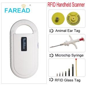 Image 4 - חיילים משוחררים נטענת סוללה כוח USB FDX B ID64 אוזן תג קטן מיני RFID חיות מחמד סורק עבור כלב חתול מזהה בעלי החיים microchip קורא