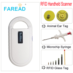 Image 4 - vets Rechargeable battery power USB FDX B ID64 ear tag small mini RFID pets scanner for dog cat ID animal microchip reader