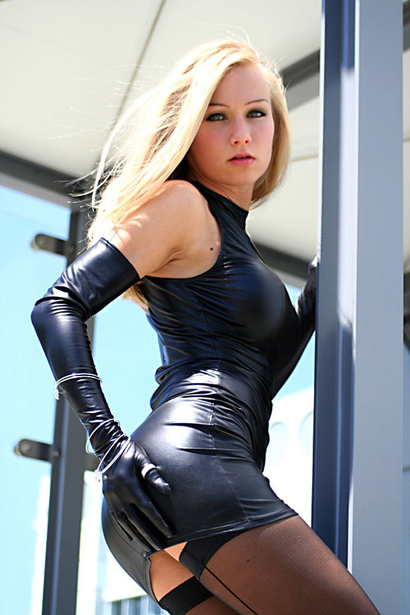 Fetish Leather Dress 49