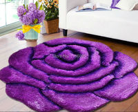 Free Shipping Rose Flower Living Room Carpet Rug Mat Long Soft Carpet Slip Resistant Bedroom Carpet