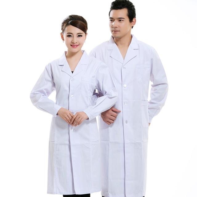 Medical white work clothes laboratory white jacket long sleeves ...