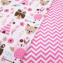 buulqo Printed cotton Twill Fabric Kids Cotton Patchwork Cloth DIY Sewing Quilting Fat Quarters Material For Baby&Child