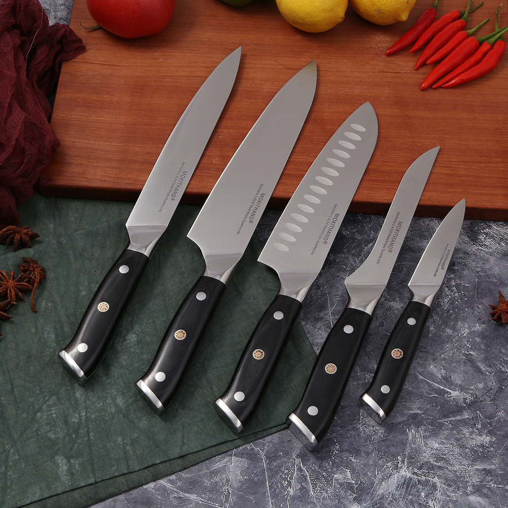 German Lifetime Quality High Carbon Steel Master Chef Knives 1