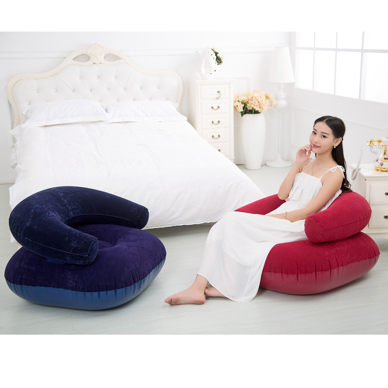 Inflatable Sofa Chair For Adult Air Seat Bean Bag Inflatable For Living Room Bedroom Beanbag Sofa Lazy Chair with Inflator Pump casual backrest sofa bedroom living room nap inflatable lazy single folding sofa black l shape with arch design bean bag chair