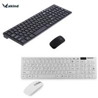 2 4GHz Keyboard Mouse Combos Ultra Thin Optical Wireless Keyboard And Mouse 12000DPI With USB Receiver