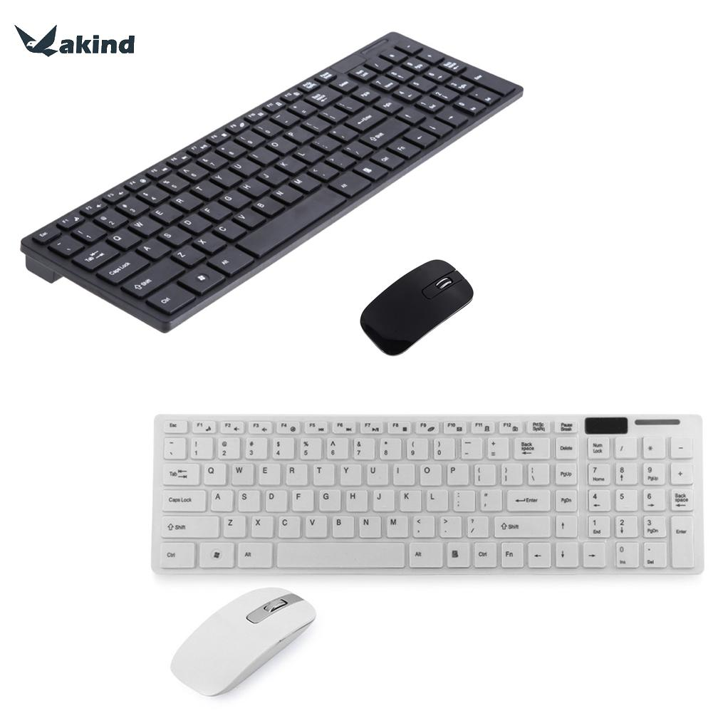 2.4GHz Keyboard Mouse Combos Ultra-thin Optical Wireless Keyboard and Mouse 12000DPI with USB Receiver and Keyboard Film For PC цены онлайн