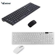 2.4GHz Keyboard Mouse Combos Ultra-thin Optical Wireless Keyboard and Mouse 12000DPI with USB Receiver and Keyboard Film For PC