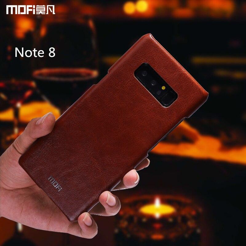 Pour samsung galaxy note 8 cas MOFi Pour samsung note 8 étui en cuir SM-N9500 SM-N950F couverture arrière Vintage Pour samsung note8 dur