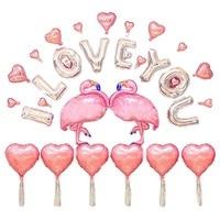 Calofe Фламинго алюминия Фольга Шарики Свадебные Надувные шары баллон Декор Baby Shower День рождения Аксессуары дети Игрушечные лошадки