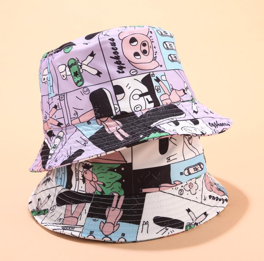 2019 Cute Pig Bucket Hat For Women Female Girls Fisherman Hat Sunflower Panama Bob Hat Summer Sun Hat Lovely Girl Friend Gift