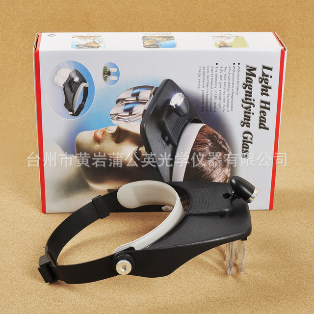 Manufacturer Direct Mg81001-a Head Wear / Helmet With Led Lamp Magnifying Glass
