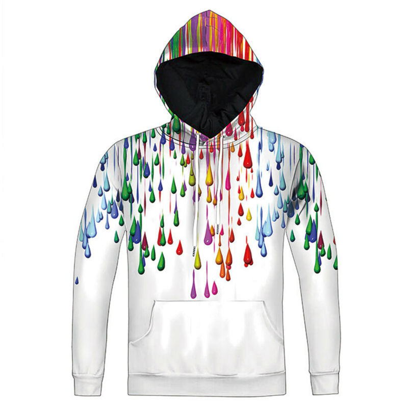 New Women Men 3D Print Casual Colorful Tie-dye Hoodies Pullover Adult Pullover
