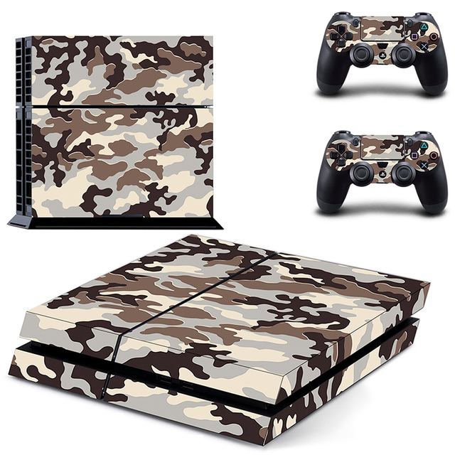 Classic PS4 Sticker Green Camouflage Vinyl Cover Decal PS4 Skin Sticker for Sony Play Station 4 Console and 2 Controller Skin 4
