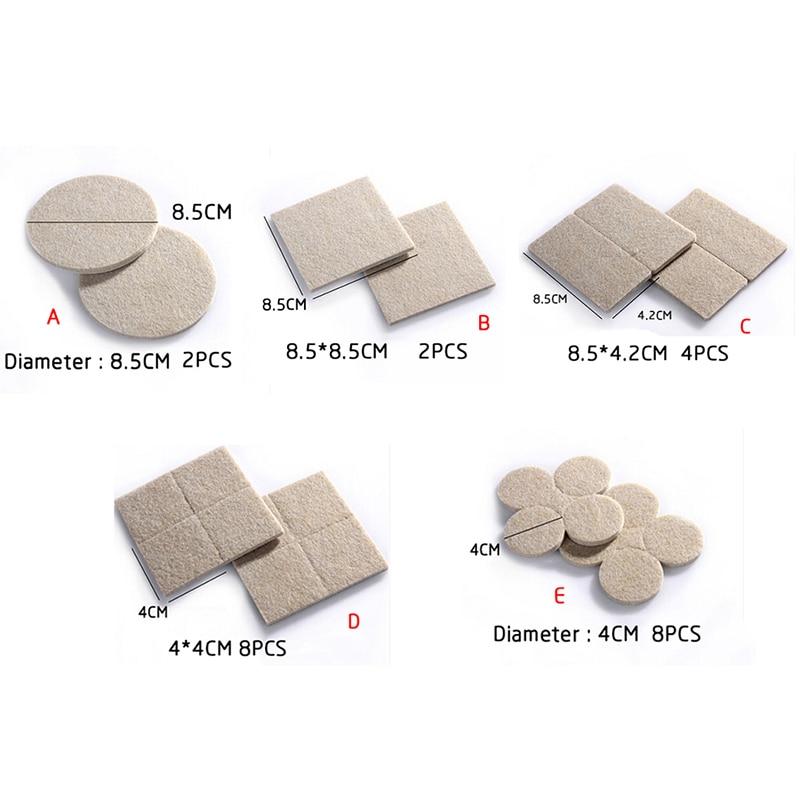 Protetor de perna de móveis para cadeiras, 2-32 peças tapete autoadesivo protetor de pé para cadeiras redondas casa ferragens