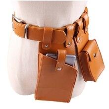 купить Women Waist Belt Bag Crossbody Chest Bag Girl Fanny Pack Small Phone Pack PU Leather 2Bags Punk High Street Waist Belt Bags Hot дешево