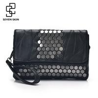 SEVEN SKIN Brand Women Messenger Bags Genuine Leather Female Handbag Fashion Designer High Quality Clutch Shoulder
