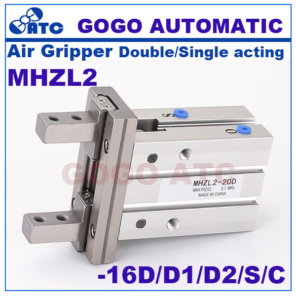 Long stroke Guide Parallel Type Air Gripper MHZL2-16D/D1/D2/S/C SMC type double/single acting linear pneumatic actuator