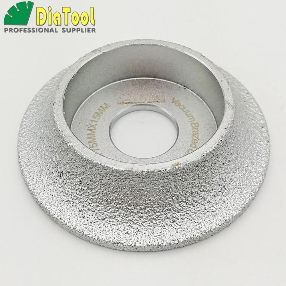 цена на DIATOOL 2pcs Dia75mm Vacuum Brazed Diamond Profile Grinding Wheel For Demi-bullnose (15mm+20mm) Vacuum Brazed Diamond Tools