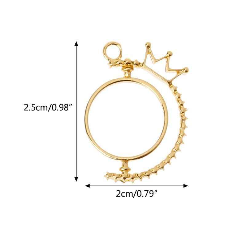 Venta al por mayor giratoria llama UV resina DIY llavero colgante apertura bisel ajuste fabricación de joyas