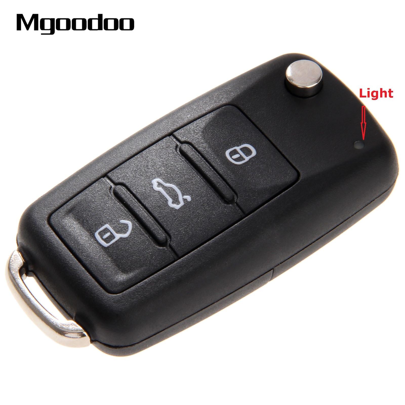 3 boutons Flip voiture pliante clé Shell pour VW Volkswagen Golf Mk6 Tiguan Polo Passat CC siège Skoda Octavia boîte vierge Fob