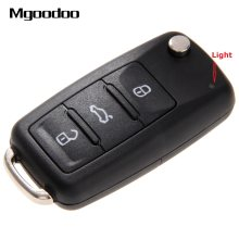1a6e86e6a353 3 Buttons Flip Folding Car Remote Key Shell For VW Volkswagen Golf Mk6  Tiguan Polo Passat CC SEAT Skoda Octavia Blank Case Fob