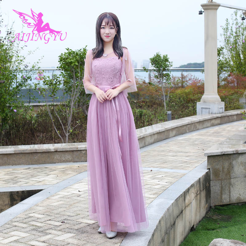 AIJINGYU 2018 hot   bridesmaid     dresses   elegant   dress   for wedding party BN154