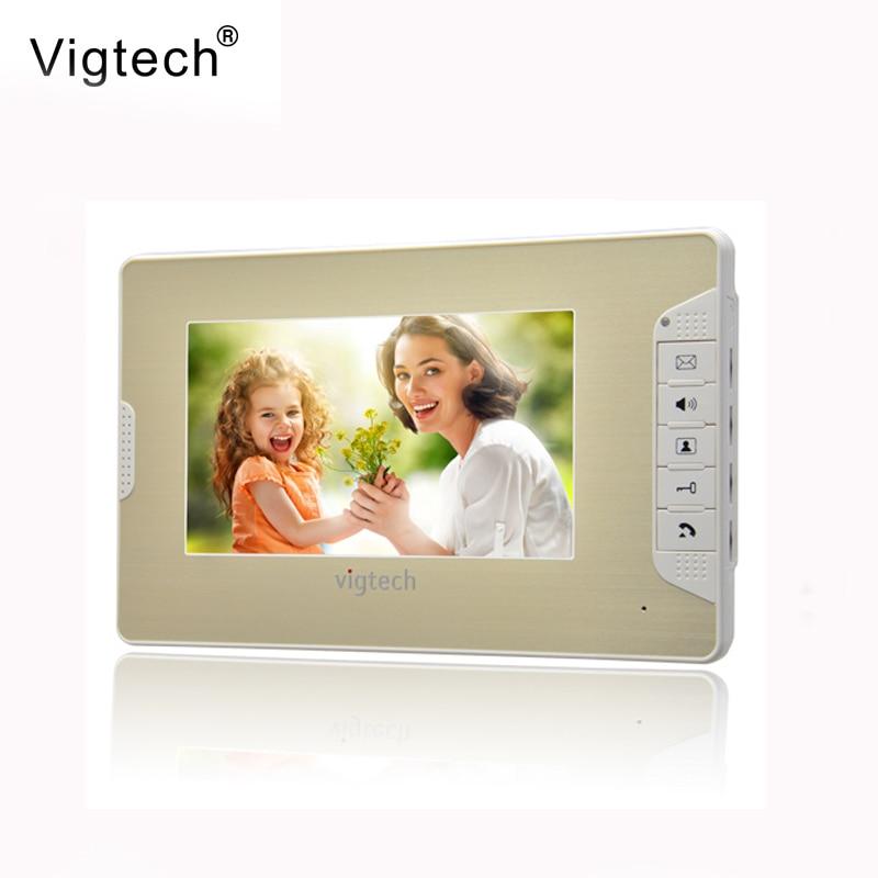 Vigtech 7 Inch Video Door Phone Doorbell Video Door Phone Intercom System 714 Indoor + Power Adapter Free Shipping