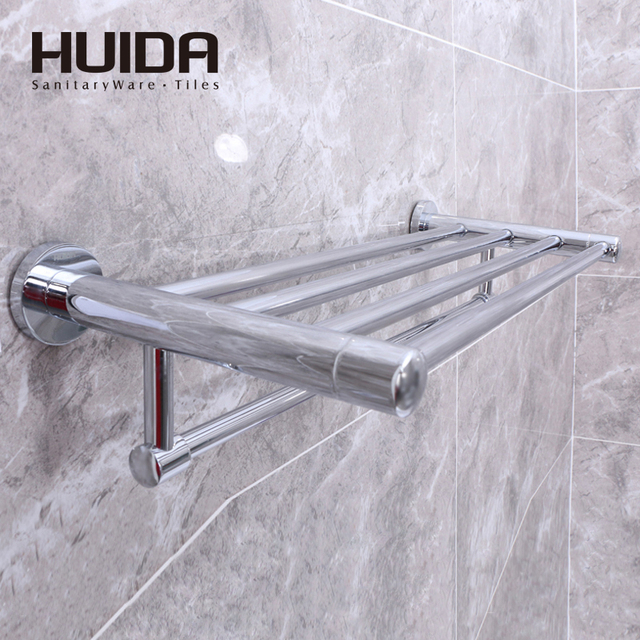 HUIDA Bathroom Accessories Towel Rack Brassrack Stainless Steel Fixed Part  Polishedchrome Plated Surface The Length 600mmHDC1820