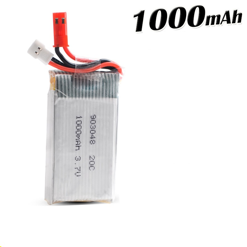 2017 DXF RC Lipo Battery 3.7V 1000mAh JJRC H11C H11WD JST For JJRC H11D HQ898 RC Quadcopter Drone Battery Control Boat Car