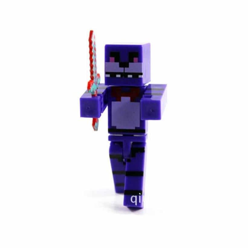 4 Pcs/Set 7 CM Minecraft Five Night At Freddy Fnaf Foxy Freddy Toys PVC  Model Anime Figure Action Figure Hot Toys For Children