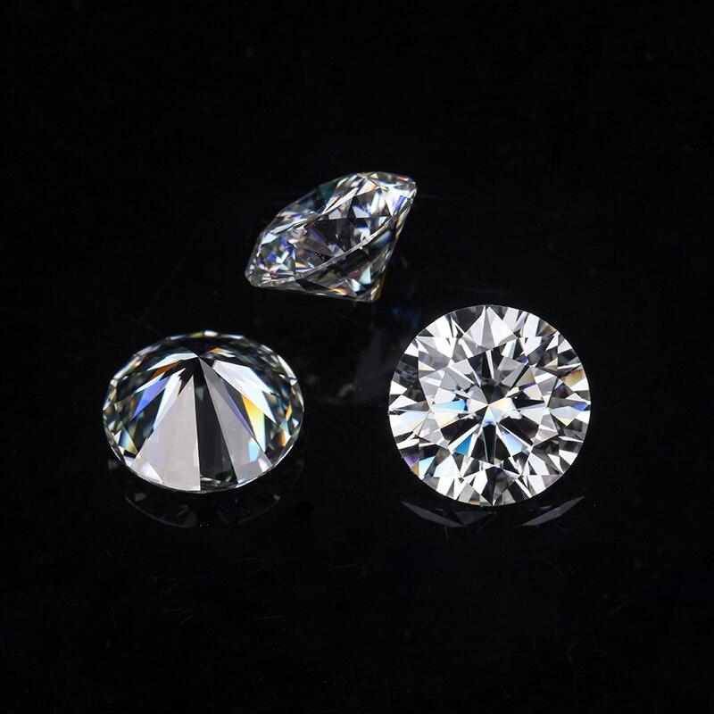 販売ラウンドブリリアントカット 9 ミリメートル IJ 色ラボ作成 Moissanites ためルースストーン婚約指輪  グループ上の ジュエリー & アクセサリー からの ルースダイヤモンド & 宝石 の中 3